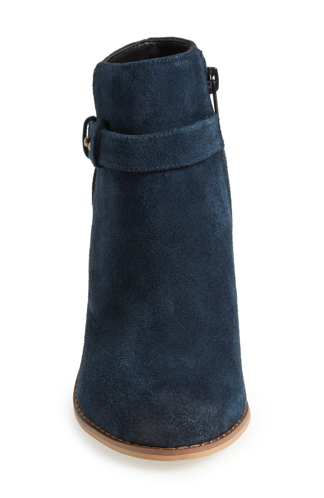 'Lyriq' Bootie,                             Alternate thumbnail 3, color,                             Ink Navy Suede
