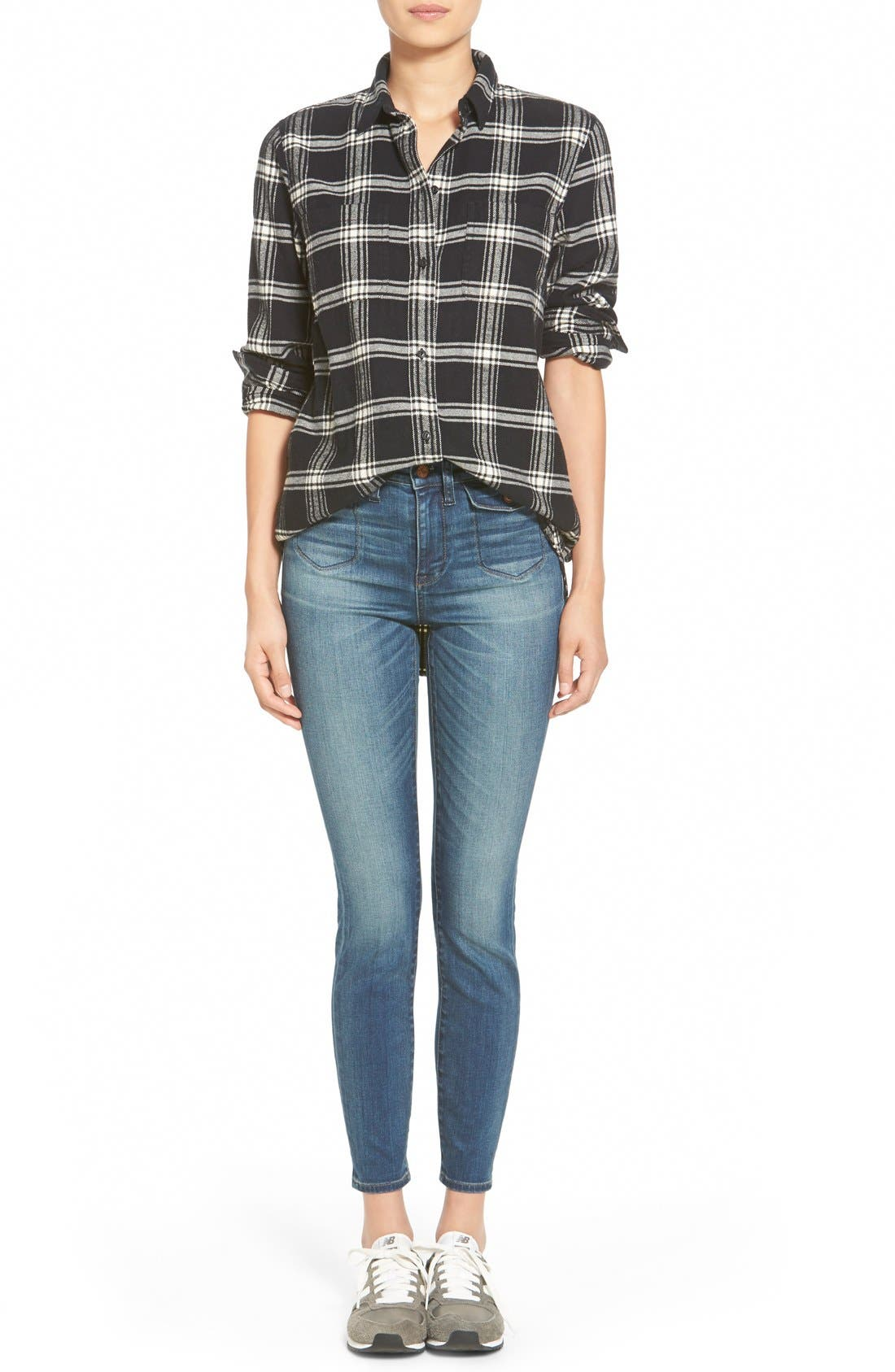 Alternate Image 6  - Madewell 'Rutherford Plaid' Flannel Ex-Boyfriend Shirt