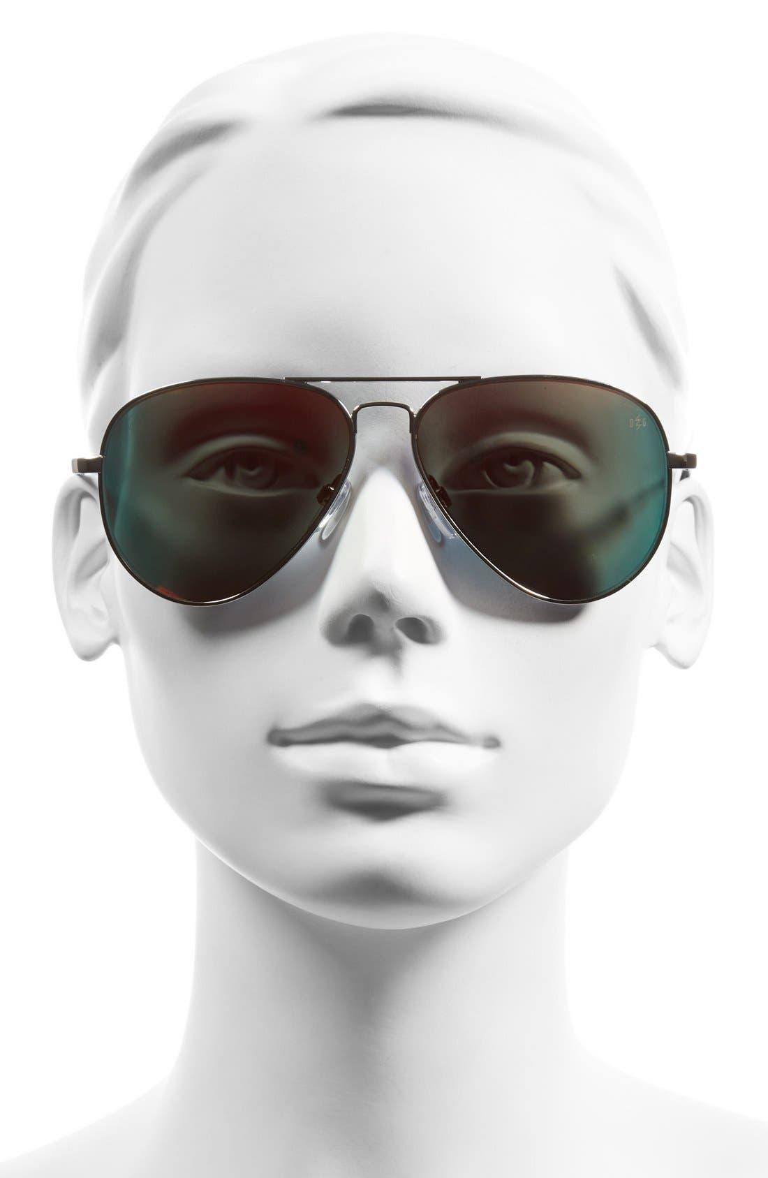 'AV1 Large'58mm Aviator Sunglasses,                             Alternate thumbnail 2, color,                             Platinum/ Fire Chrome