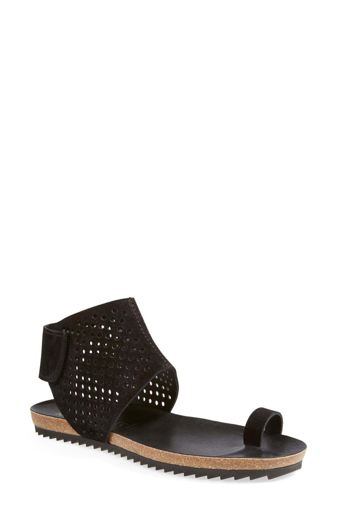 Alternate Image 1 Selected - Pedro Garcia Perforated Ankle Cuff Sandal (Women)
