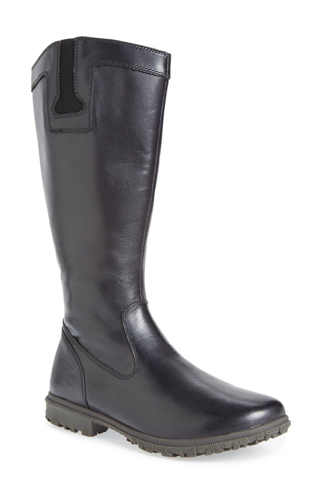 'Pearl' Waterproof Boot,                         Main,                         color, Ebony