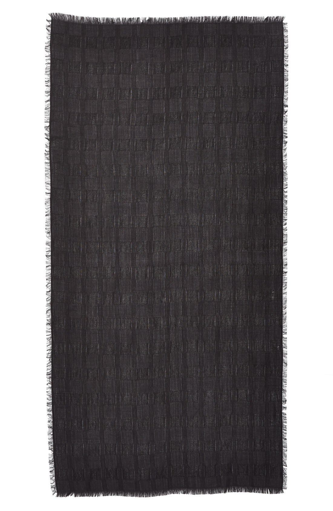 Alternate Image 2  - Nordstrom Texture Woven Scarf