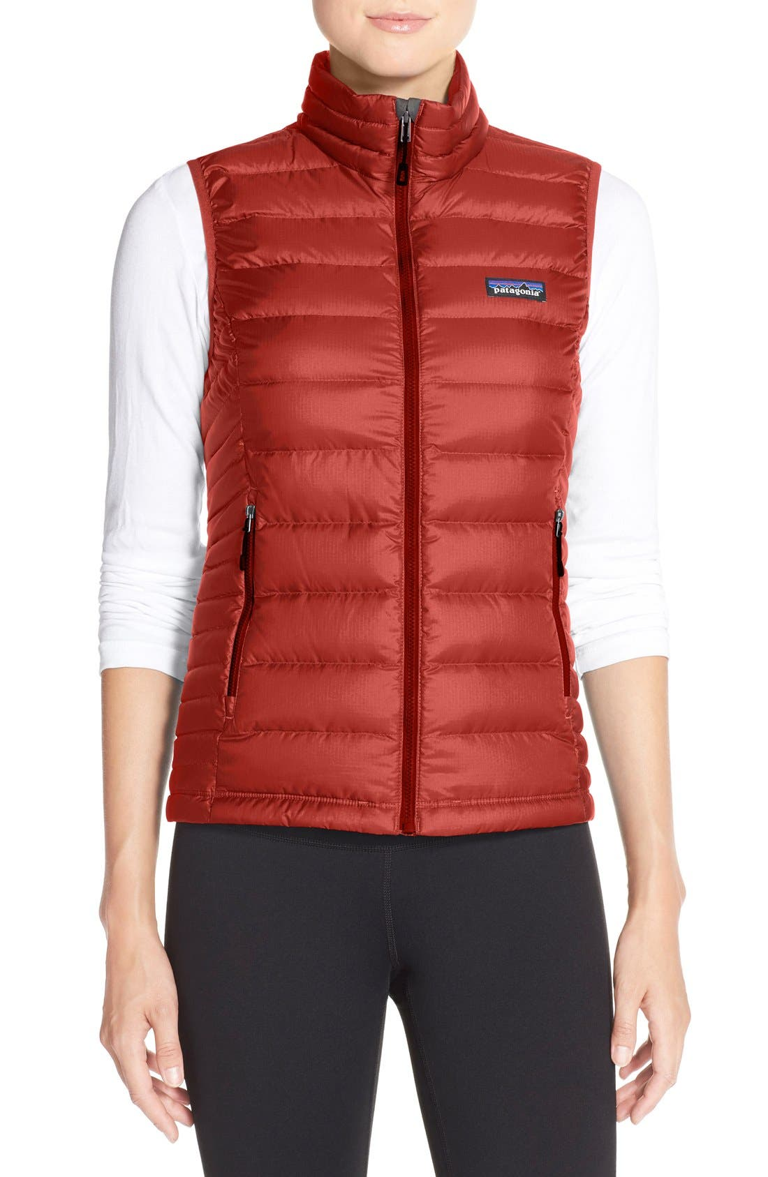 Down Vest,                         Main,                         color, Sumac Red