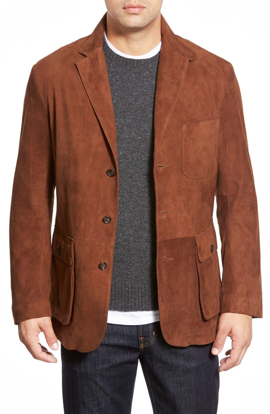 Main Image - Golden Bear Slim FitSuede Blazer