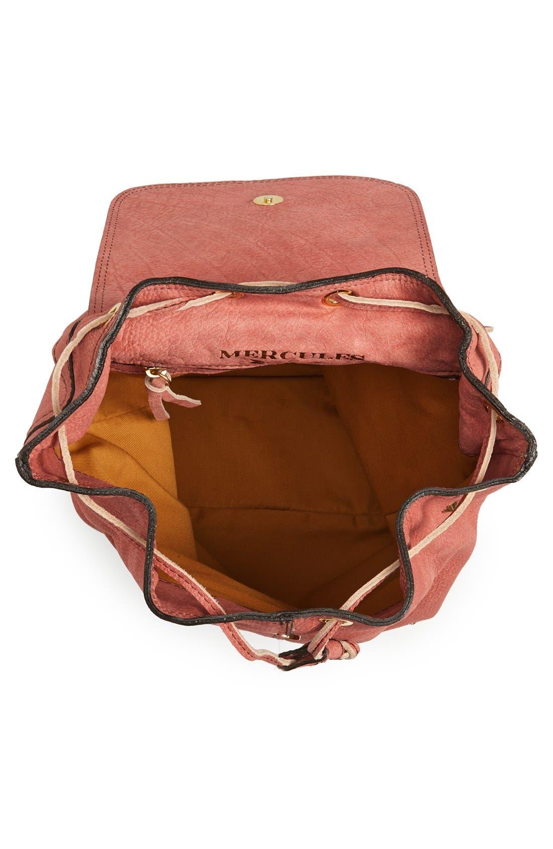 Alternate Image 4  - Mercules 'Greyhound' Studded Nubuck Backpack