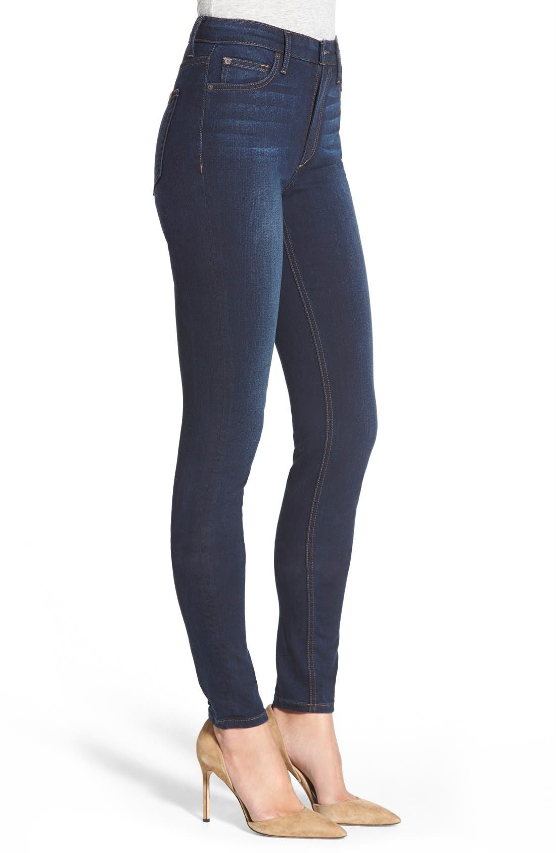 Alternate Image 3  - Joe's 'Flawless - Charlie' High Rise Skinny Jeans (Cecily)