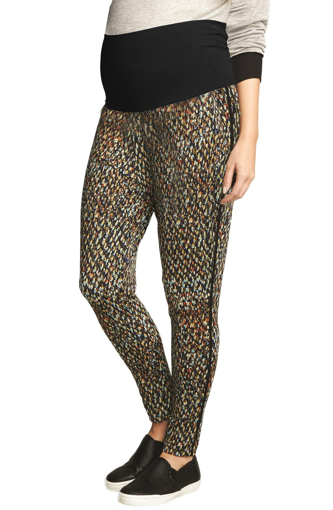 Alternate Image 1 Selected - The Urban Ma Print Maternity Pants