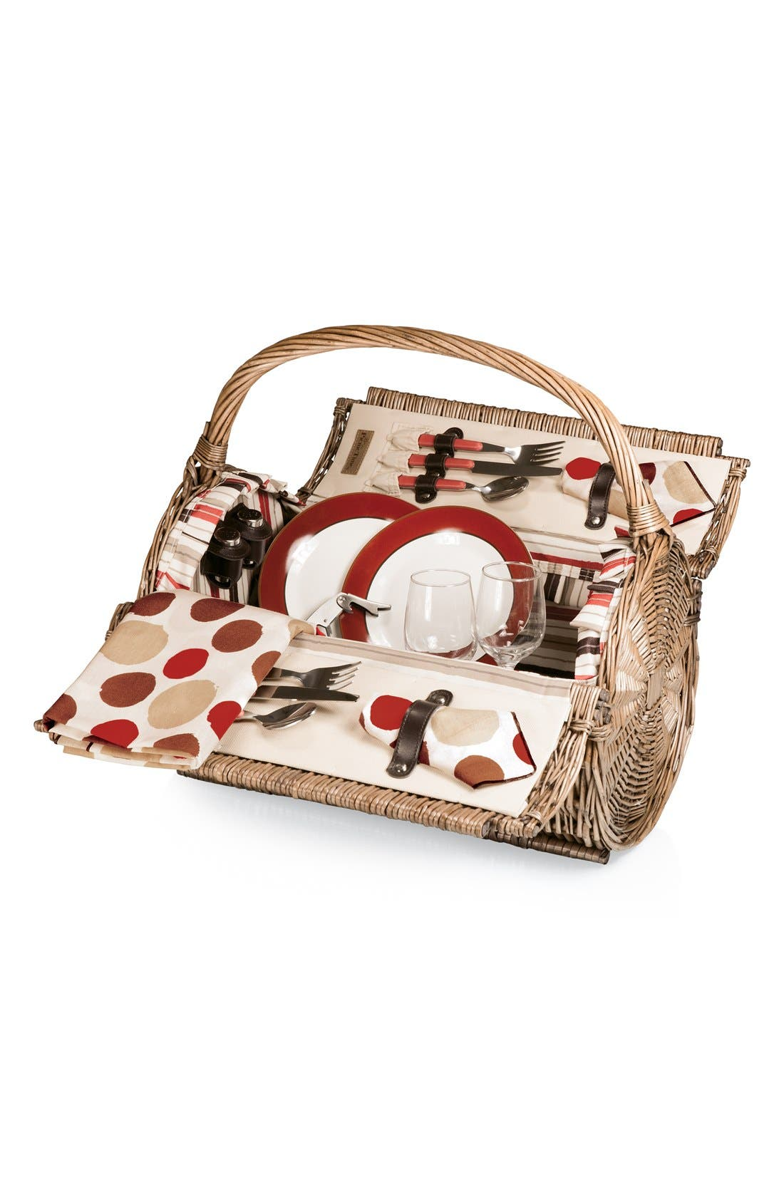 Main Image - Picnic Time 'Barrell' Wicker Picnic Basket