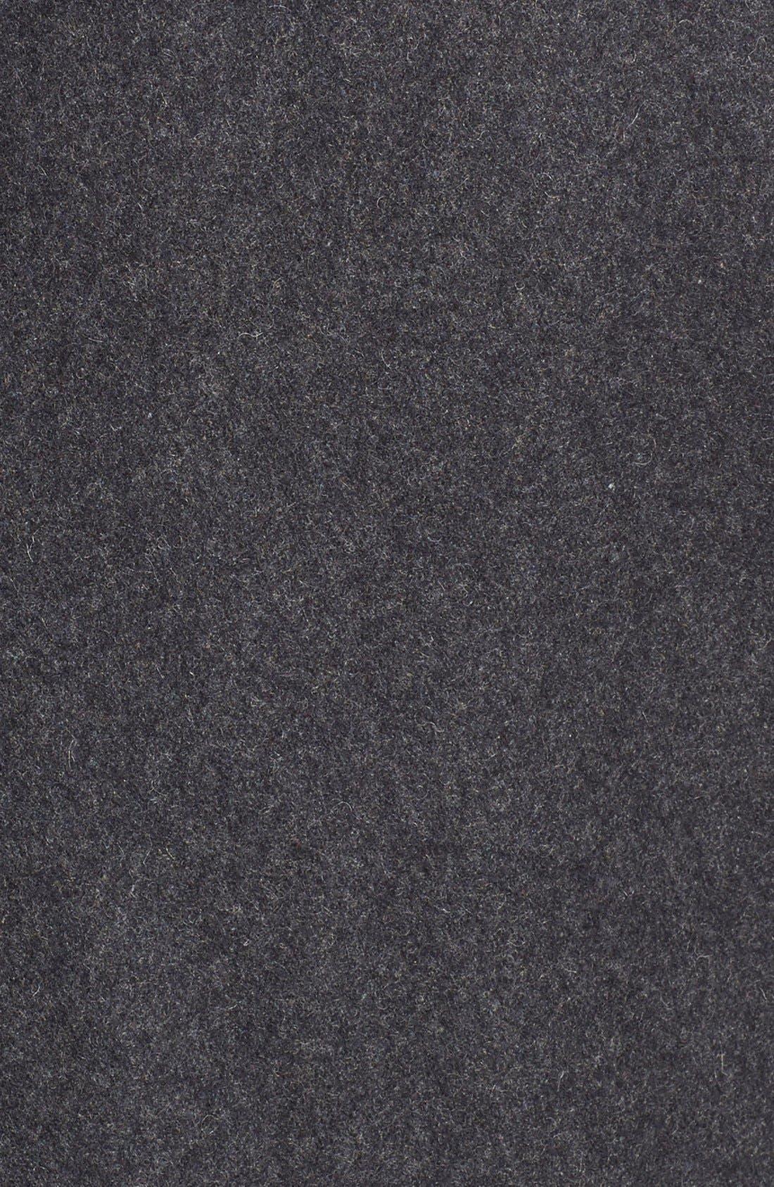 Melton Coat,                             Alternate thumbnail 5, color,                             Charcoal