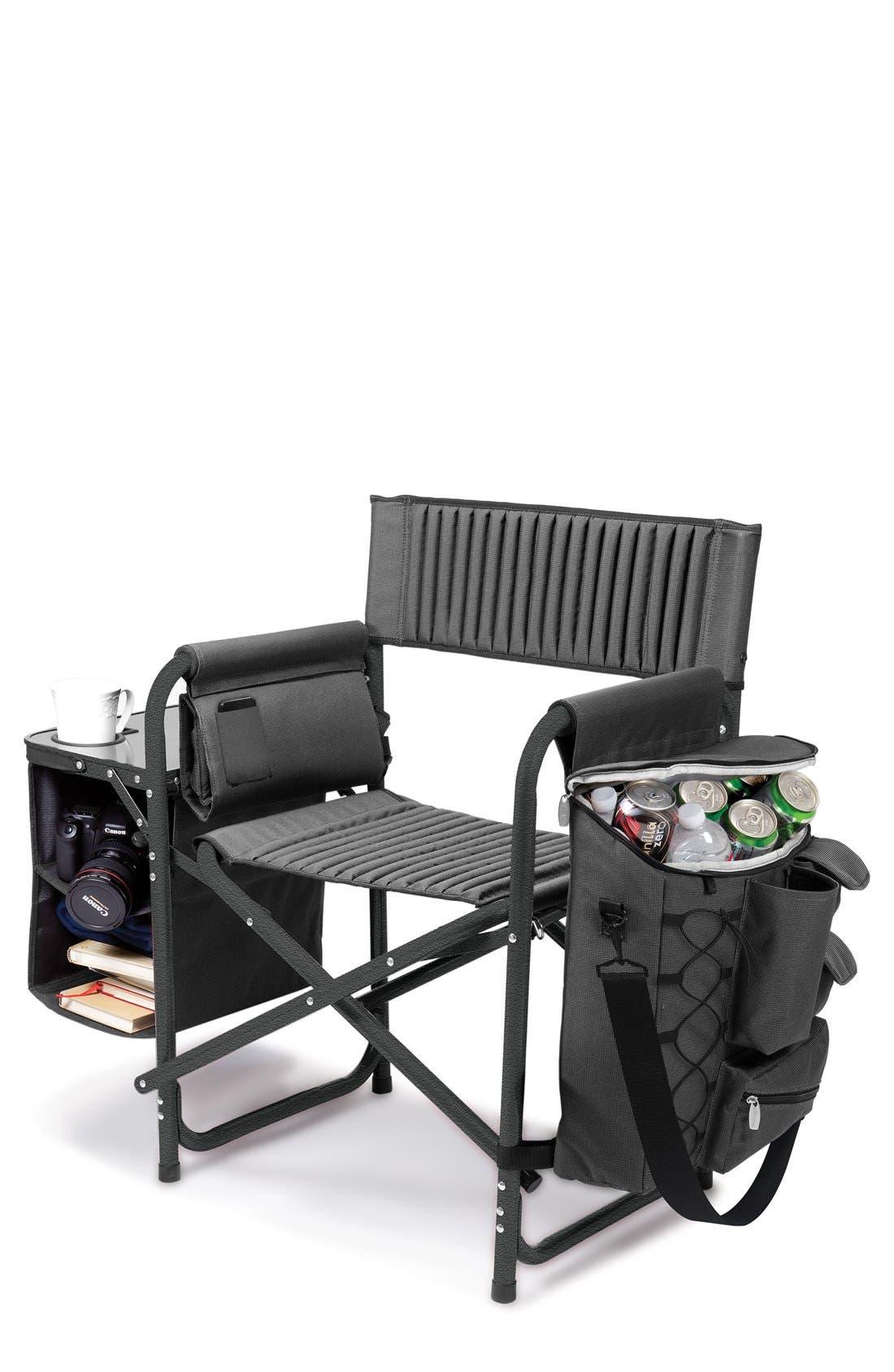 'Fusion' Lawn Chair,                             Main thumbnail 1, color,                             Black