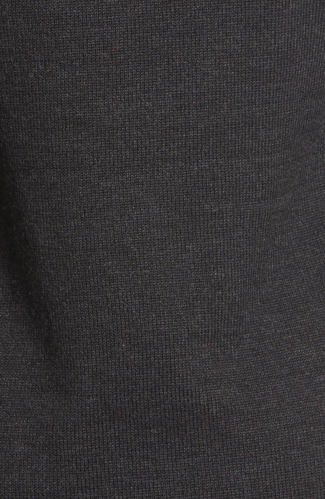 'Bain' Open Front Maternity Cardigan,                             Alternate thumbnail 5, color,                             Heathered Black