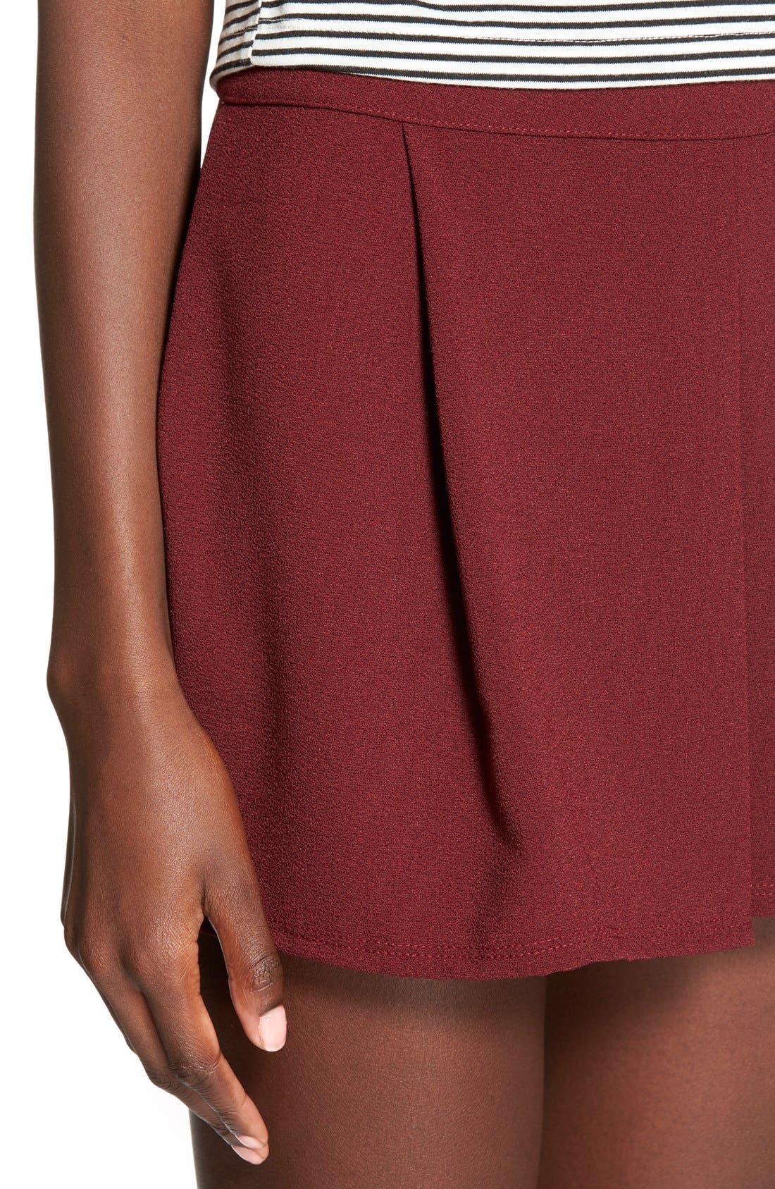 Alternate Image 4  - Lily White Pleat Front Knit Shorts
