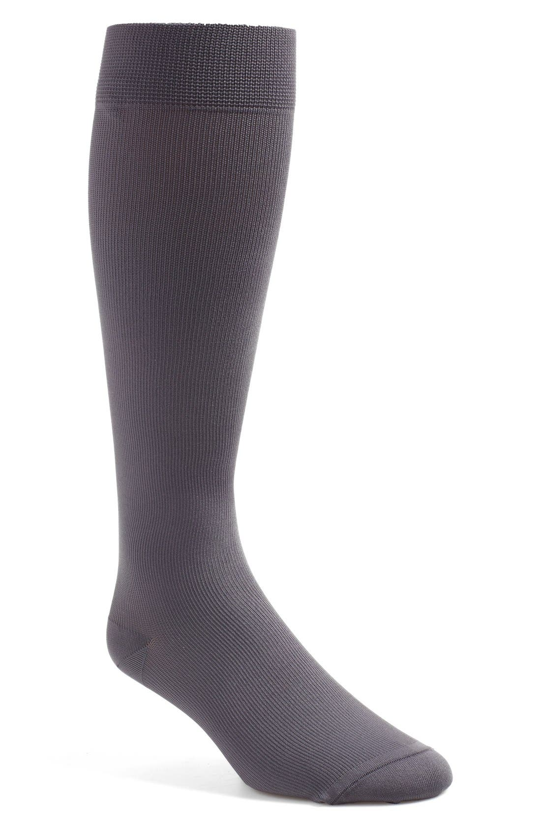 'Keynote' Over the Calf Socks,                             Main thumbnail 1, color,                             Grey