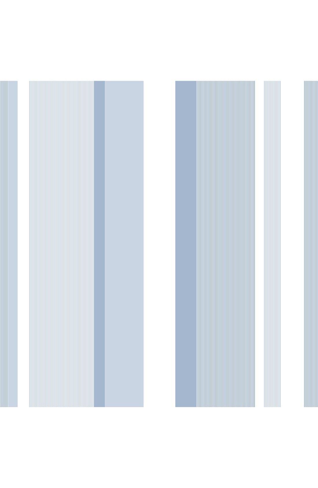Main Image - Wallpops Awning Stripe Reusable Peel & Stick Vinyl Wallpaper