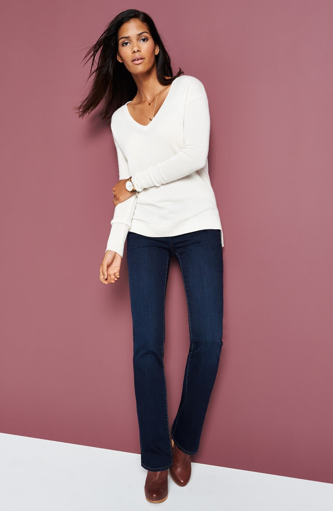'Natalie' Stretch Bootcut Jeans,                             Alternate thumbnail 5, color,