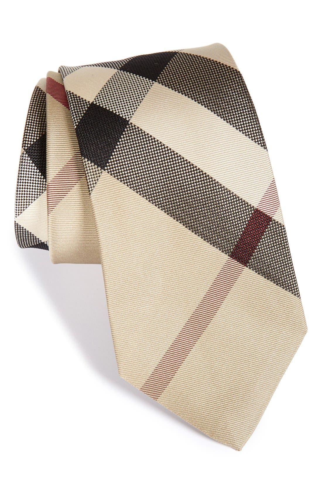 Burberry'Manston' Woven Silk Tie