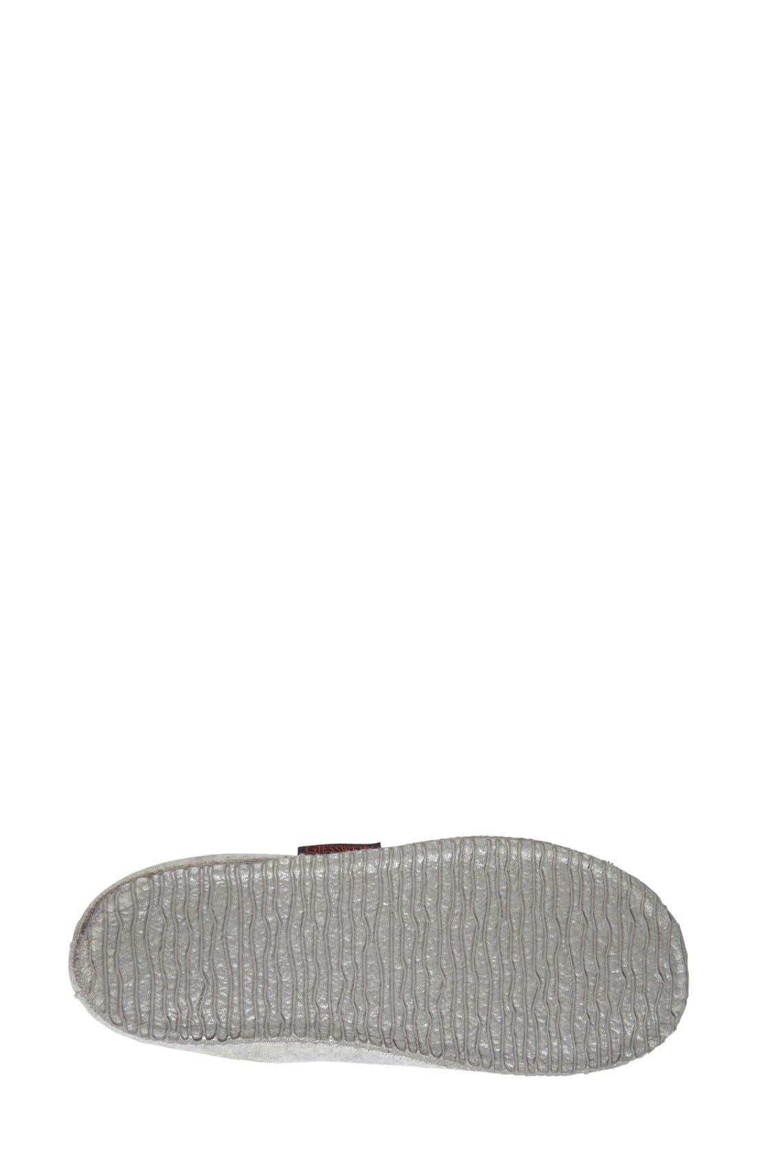 'Laura' Slipper,                             Alternate thumbnail 4, color,                             Grey Wool