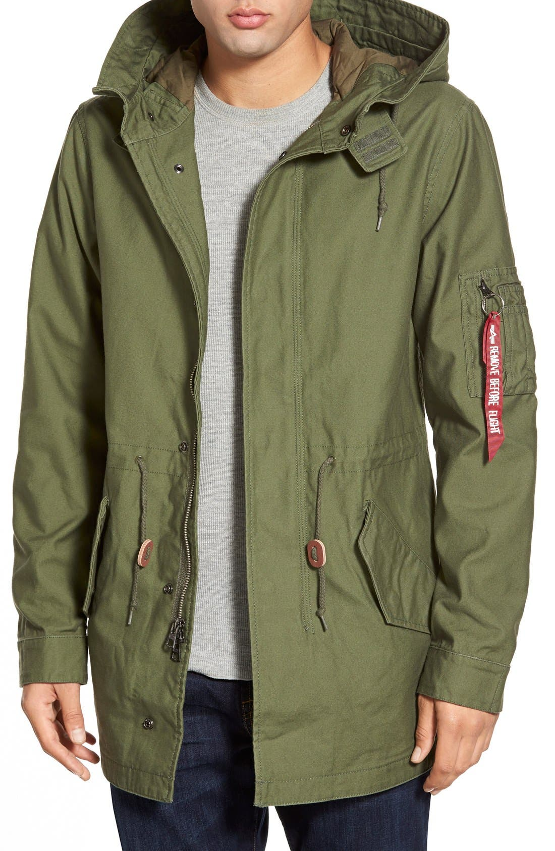 Alternate Image 1 Selected - Alpha Industries 'M-59' Hooded Fishtail Parka