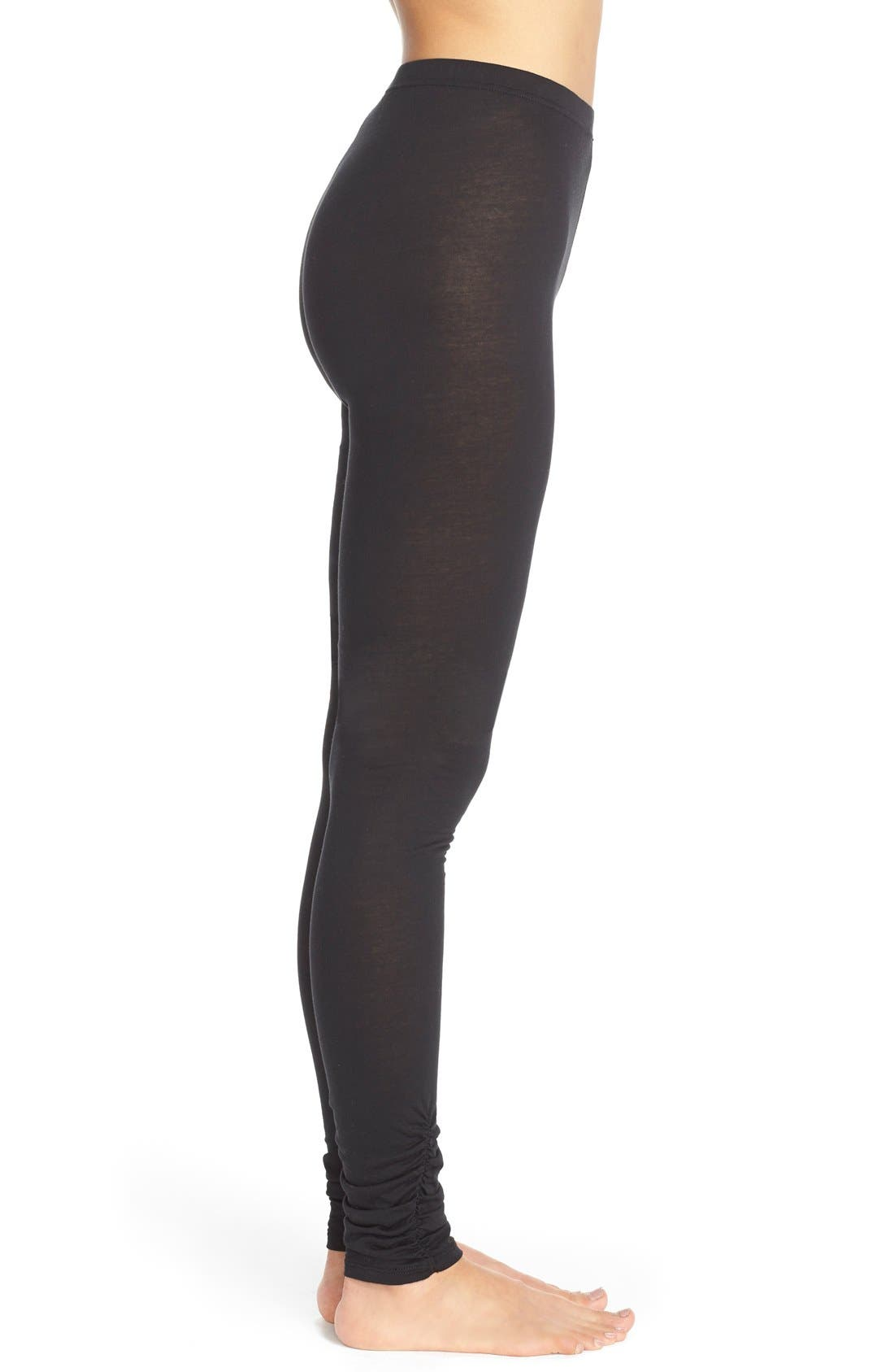 Alternate Image 3  - Yummie Shirred Cuff Leggings