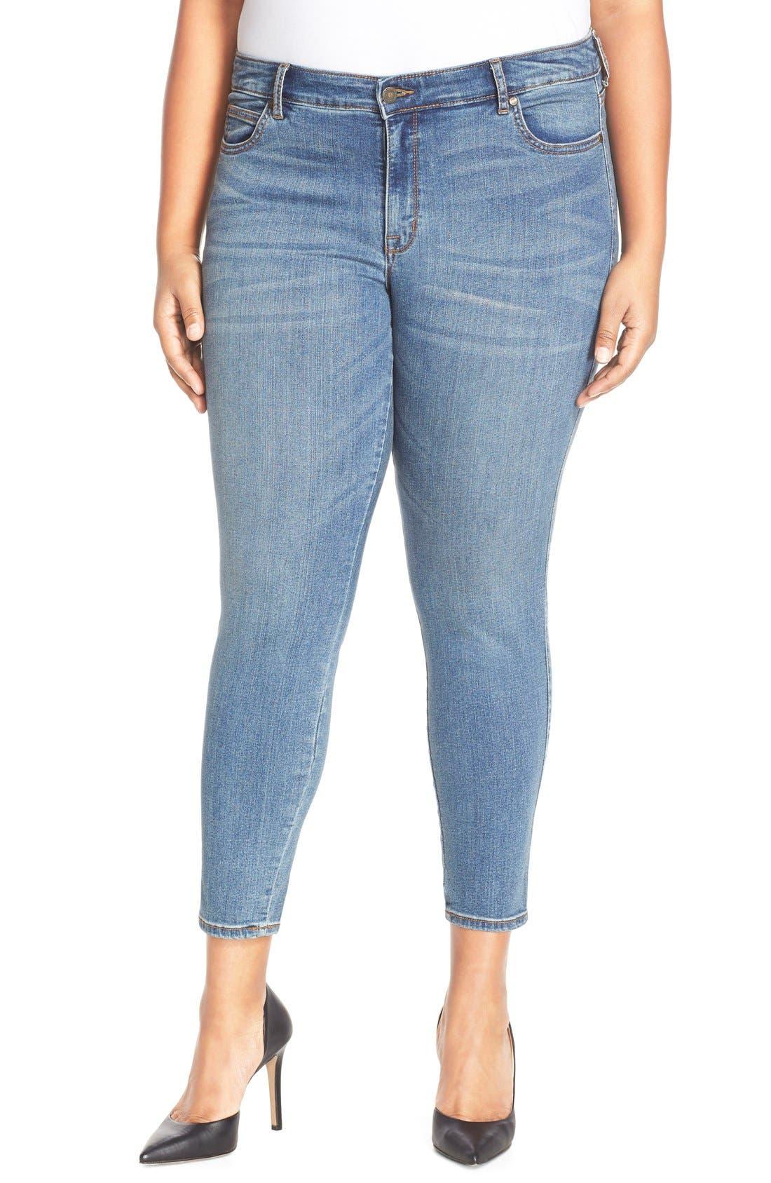 Main Image - CJ by Cookie Johnson 'Wisdom' Stretch Ankle Skinny Jeans (Plus Size)