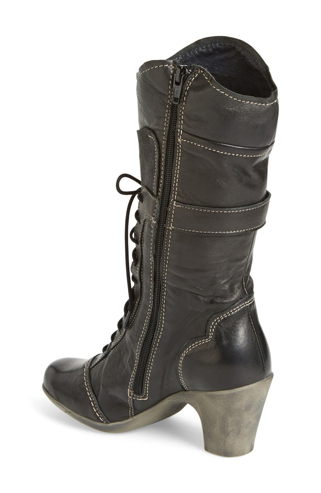 'Judith' Boot,                             Alternate thumbnail 2, color,                             Bordo Leather
