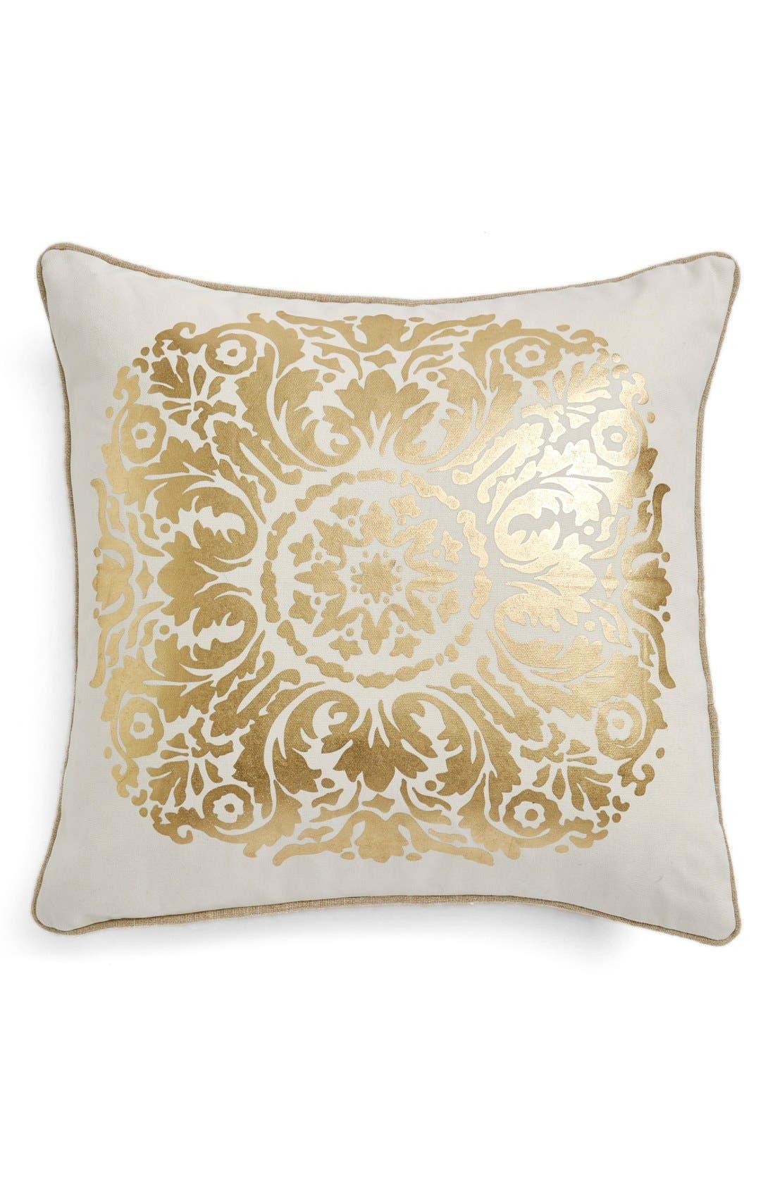 Main Image - LevtexGold Medallion Print Pillow