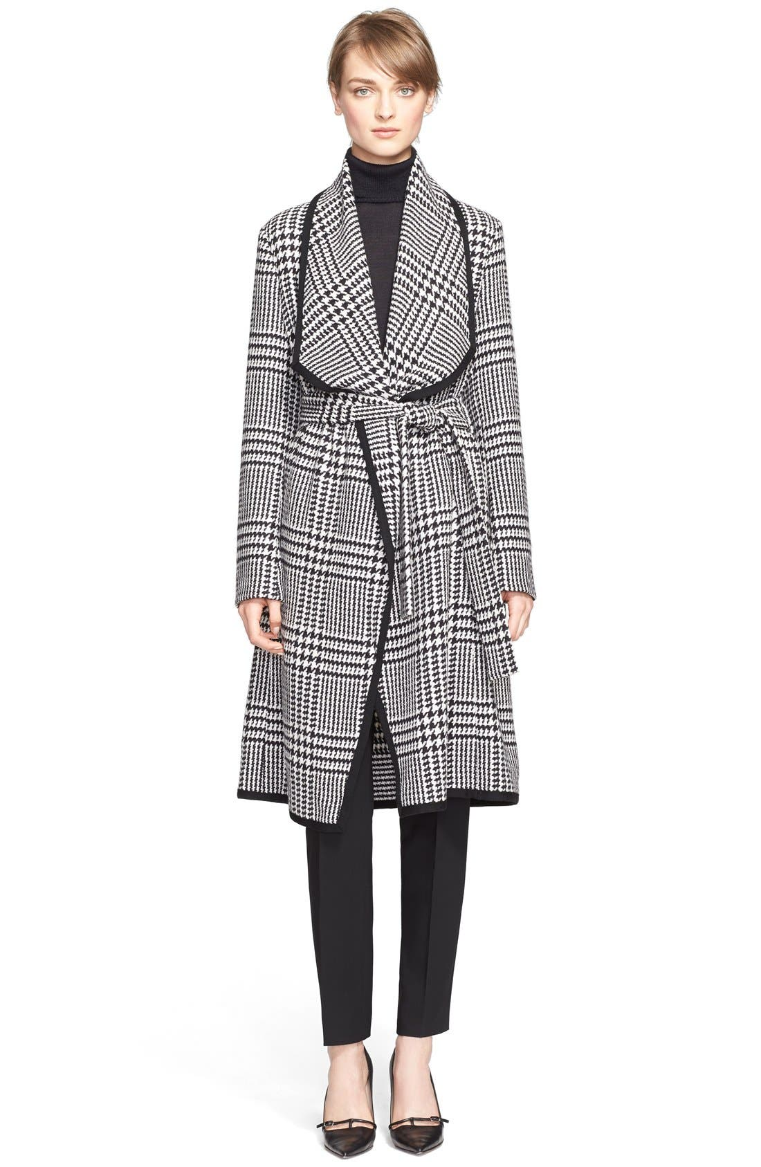 Main Image - ESCADA Macro Houndstooth Stretch Wool Coat