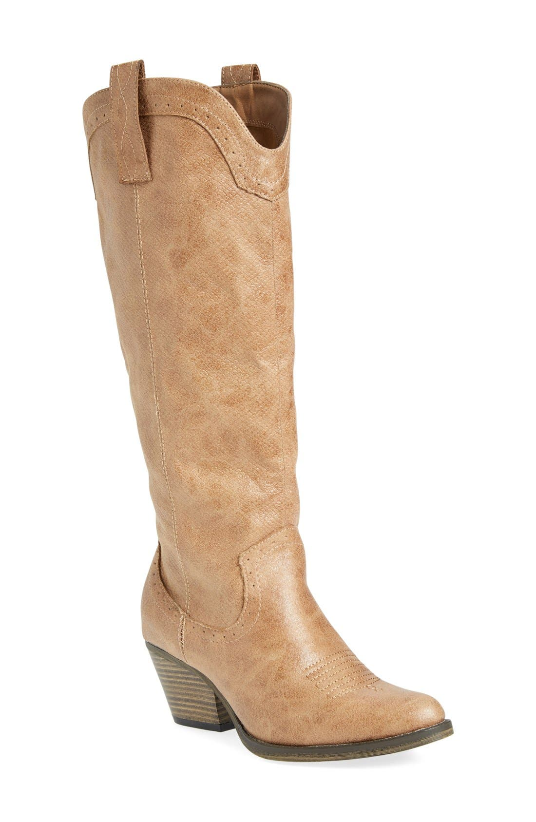 'Pawn' Boot,                         Main,                         color, Natural Faux Leather