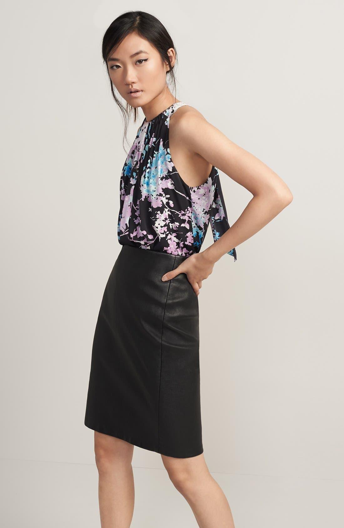 Alternate Image 4  - Diane vonFurstenberg'Cloe' Leather Pencil Skirt