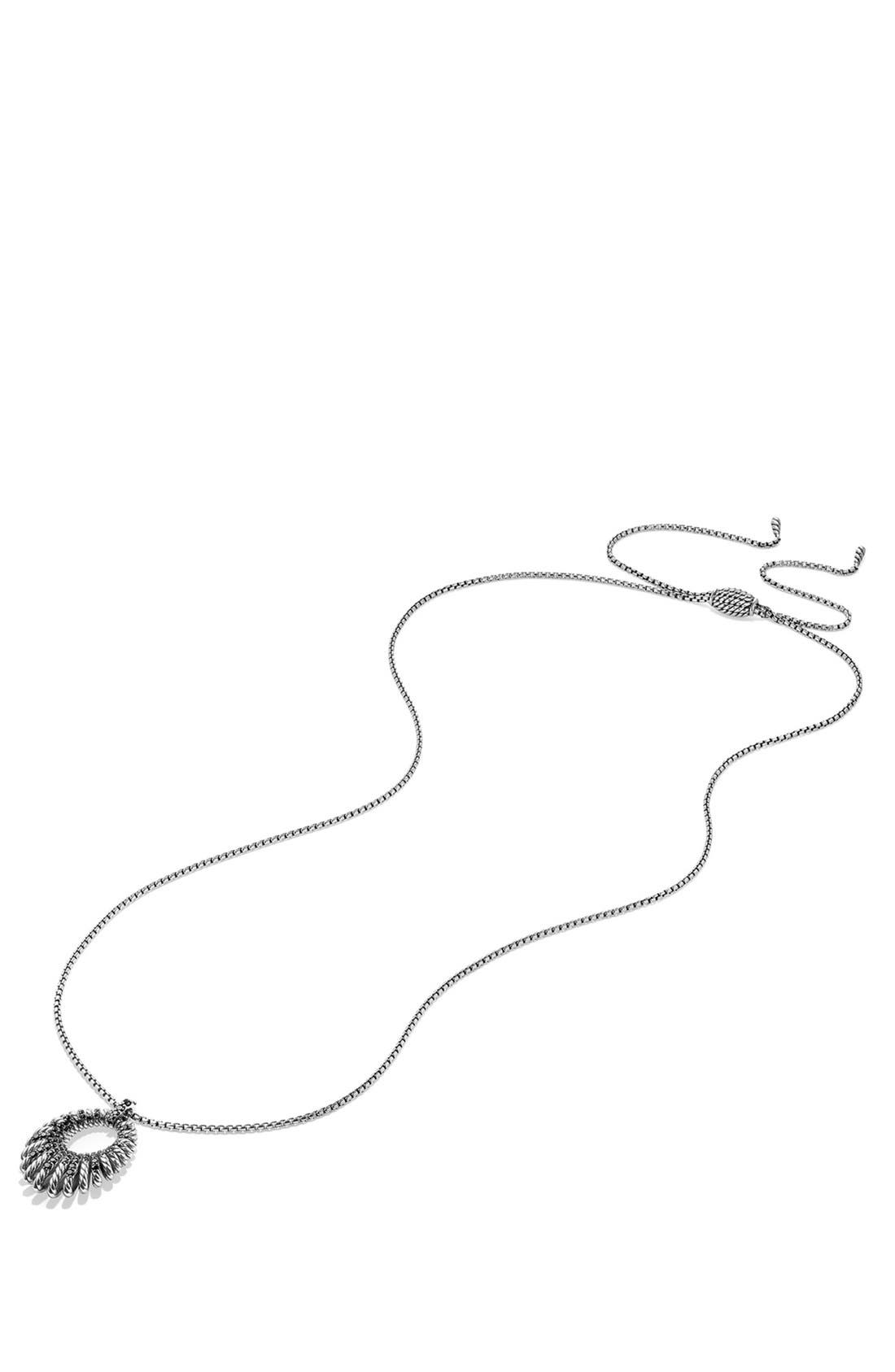 Alternate Image 2  - David Yurman 'Tempo' Necklace with Black Spinel