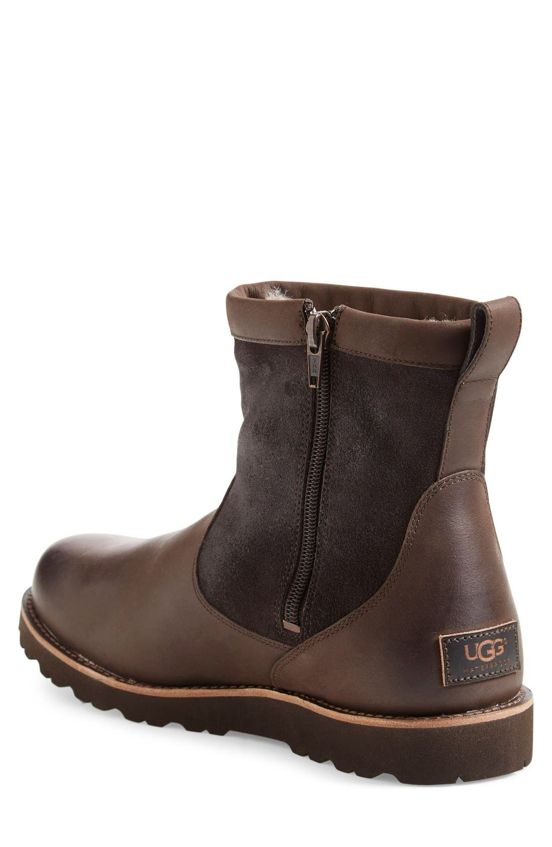 Alternate Image 2  - UGG® Hendren TL Waterproof Zip Boot (Men)