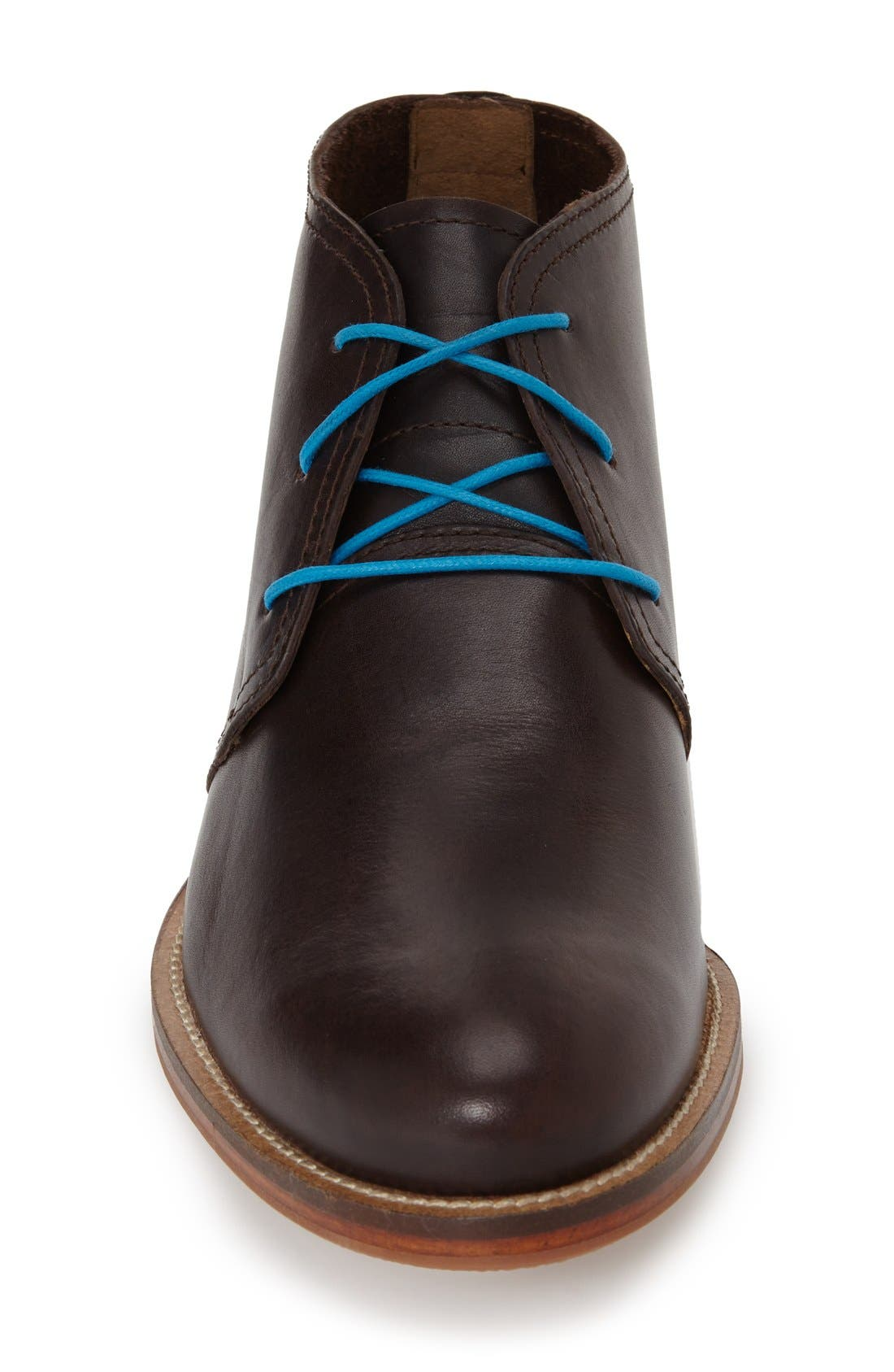 'Monarch Plus' Chukka Boot,                             Alternate thumbnail 3, color,                             Dark Brown Leather