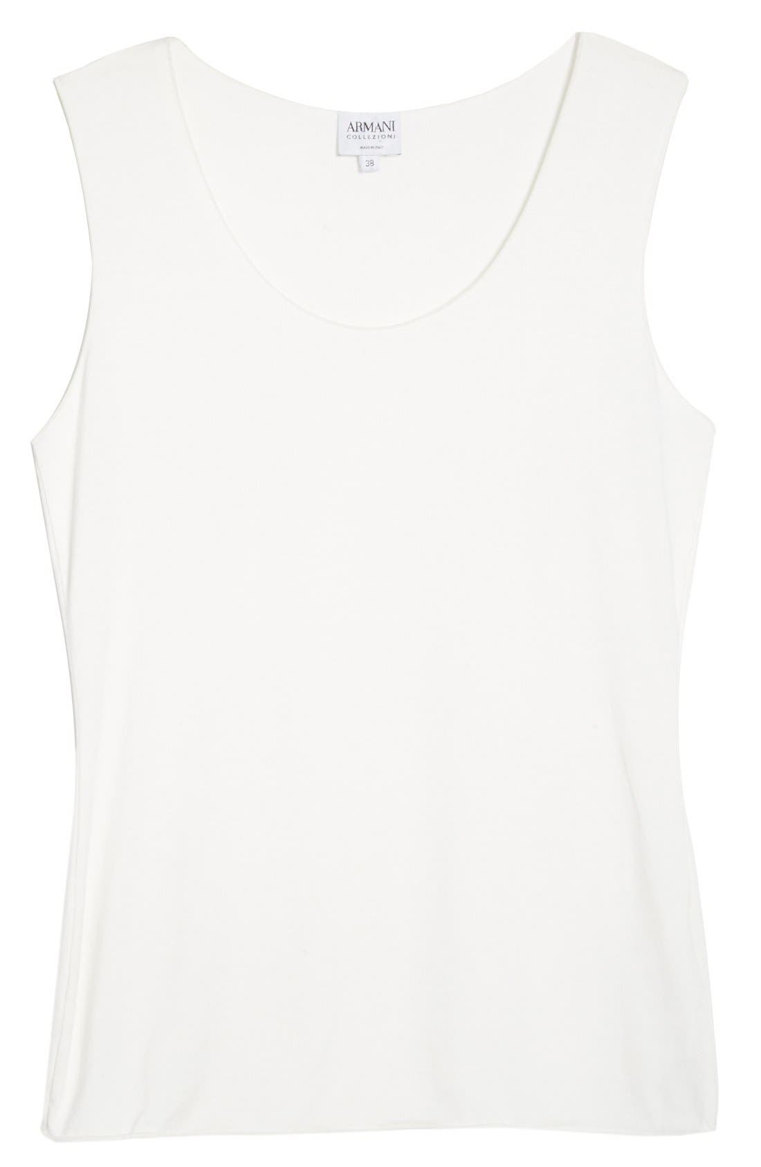 Jersey Tank,                             Alternate thumbnail 4, color,                             Solid White