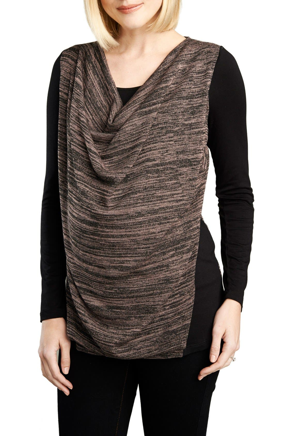 Alternate Image 1 Selected - Maternal America Cowl Neck Nursing Top