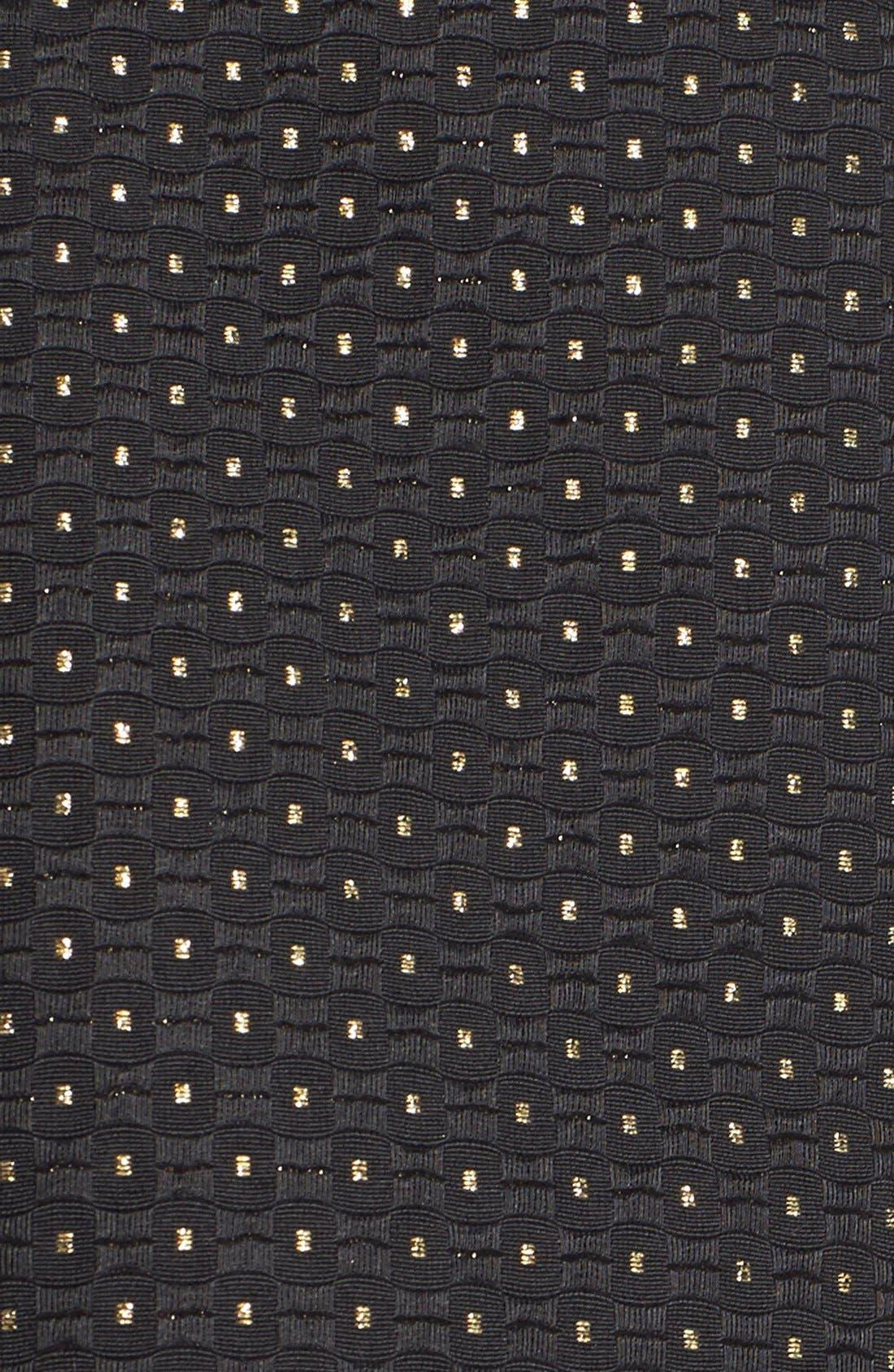 Alternate Image 5  - Soprano Metallic Dot Textured Skater Skirt