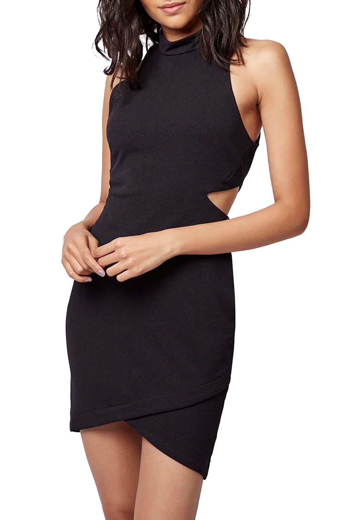 Alternate Image 4  - Topshop Cutout Body-Con Dress (Petite)