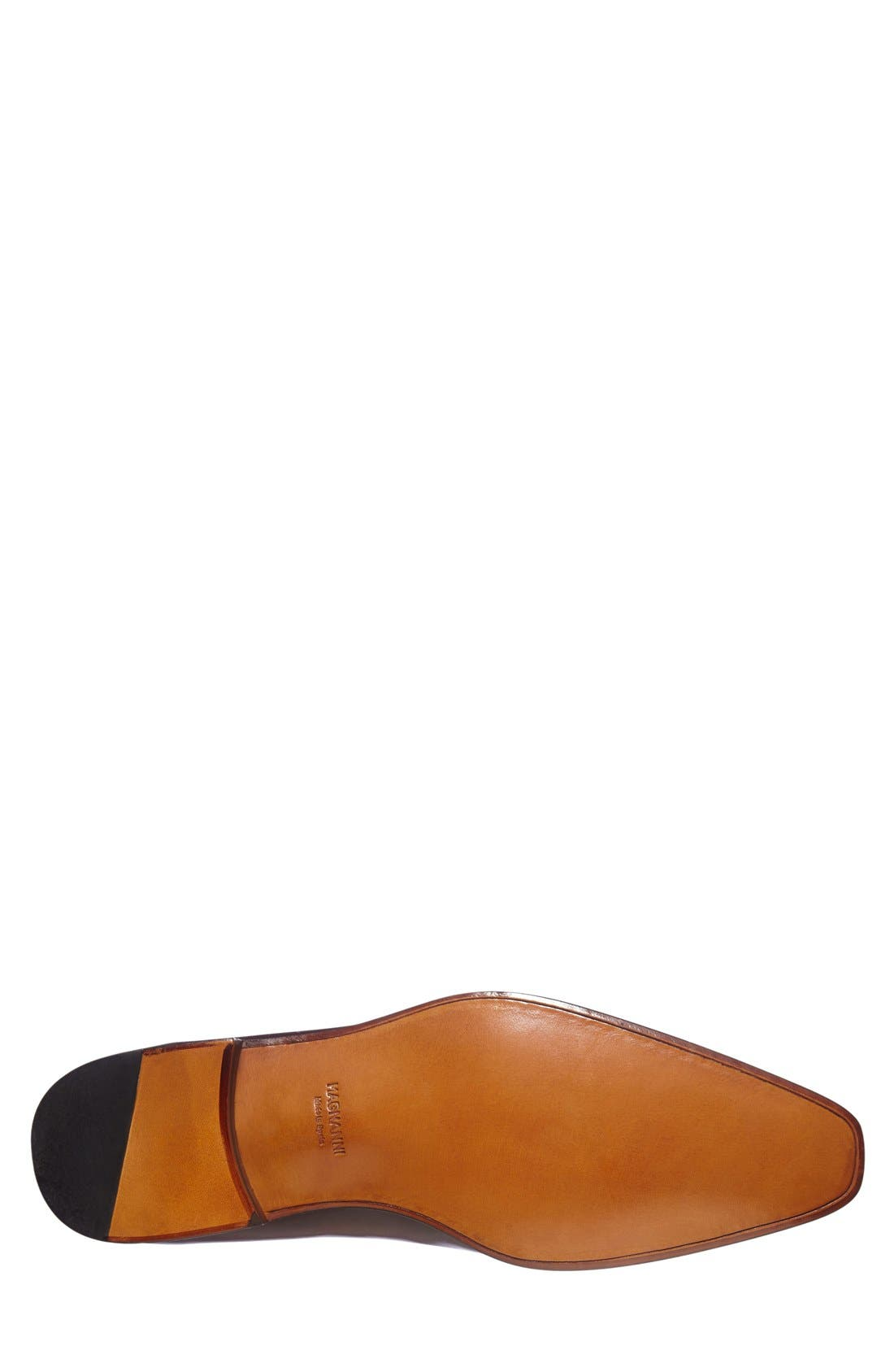 'Cruz' Plain Toe Oxford,                             Alternate thumbnail 4, color,                             Cognac Leather