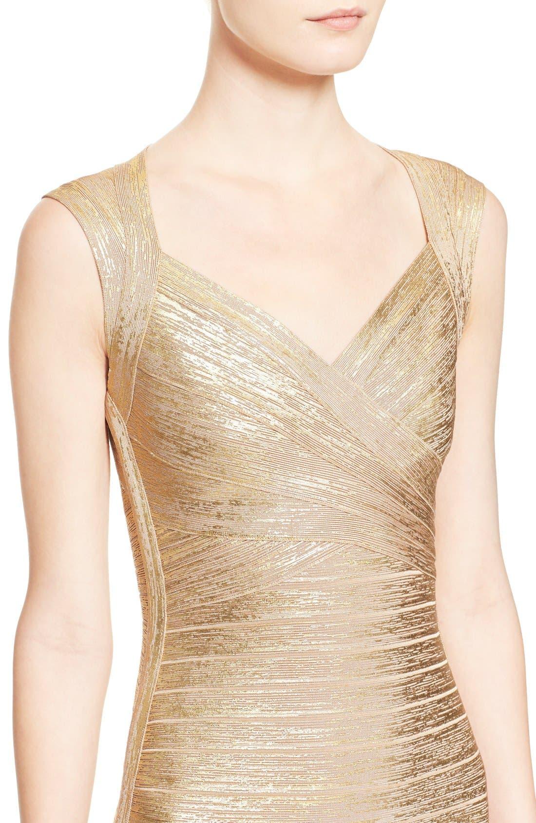 Alternate Image 5  - Herve Leger Metallic Bandage Dress
