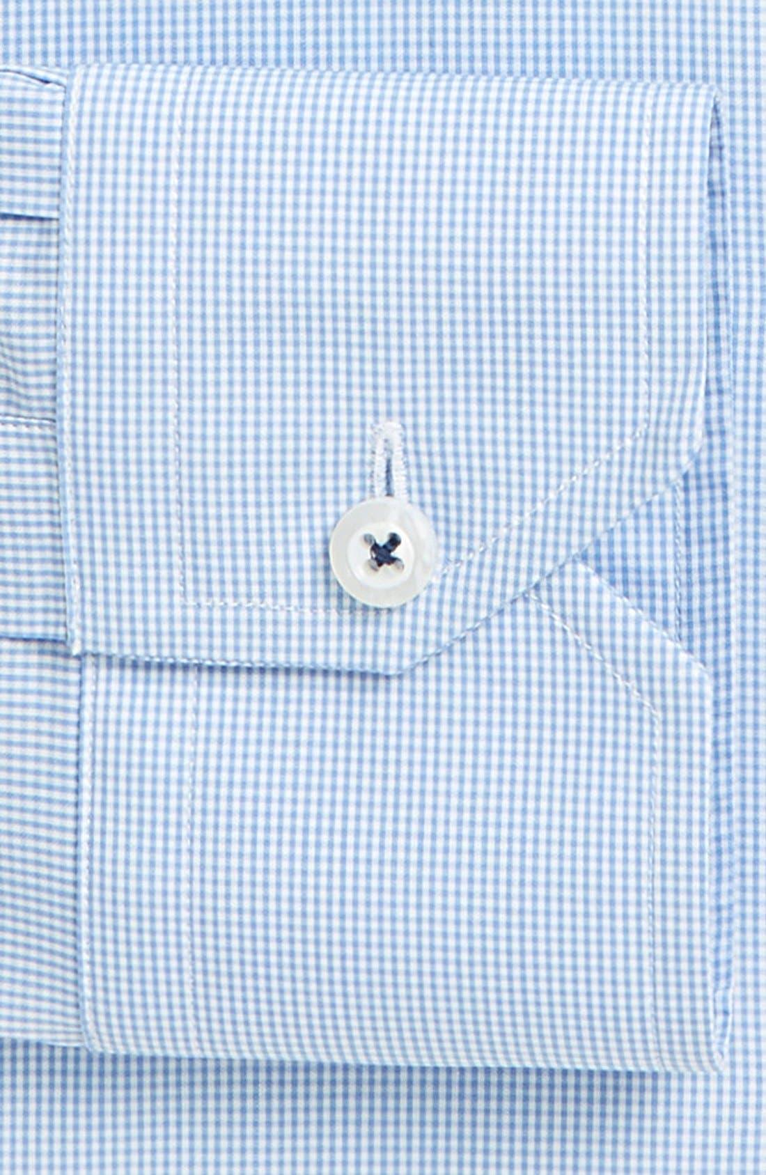 Classic Fit Micro Gingham Dress Shirt,                             Alternate thumbnail 2, color,                             Blue
