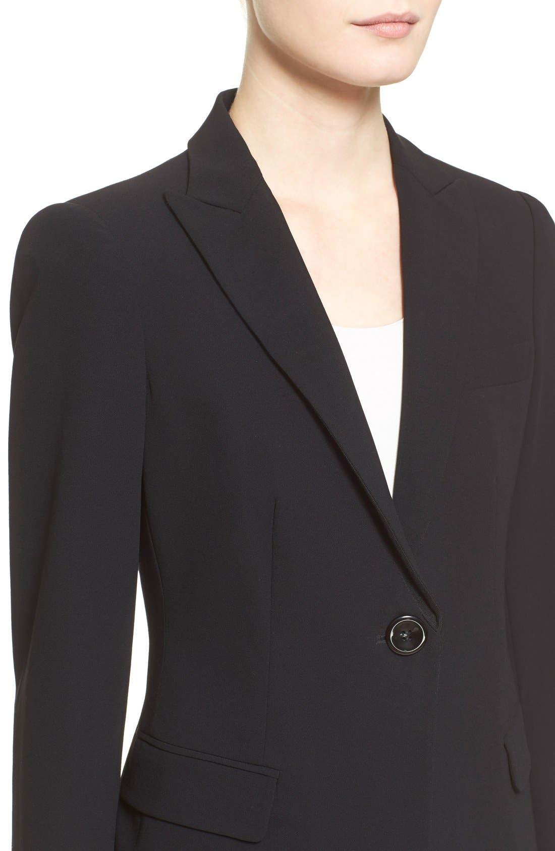 Alternate Image 9  - Armani Collezioni Single Button Wool Jacket