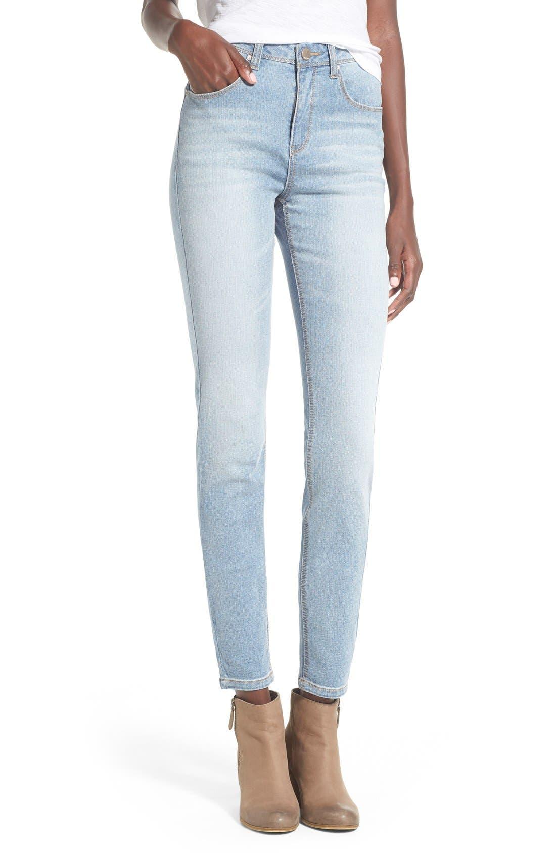Main Image - Generra High Waist Skinny Jeans (Mastic)