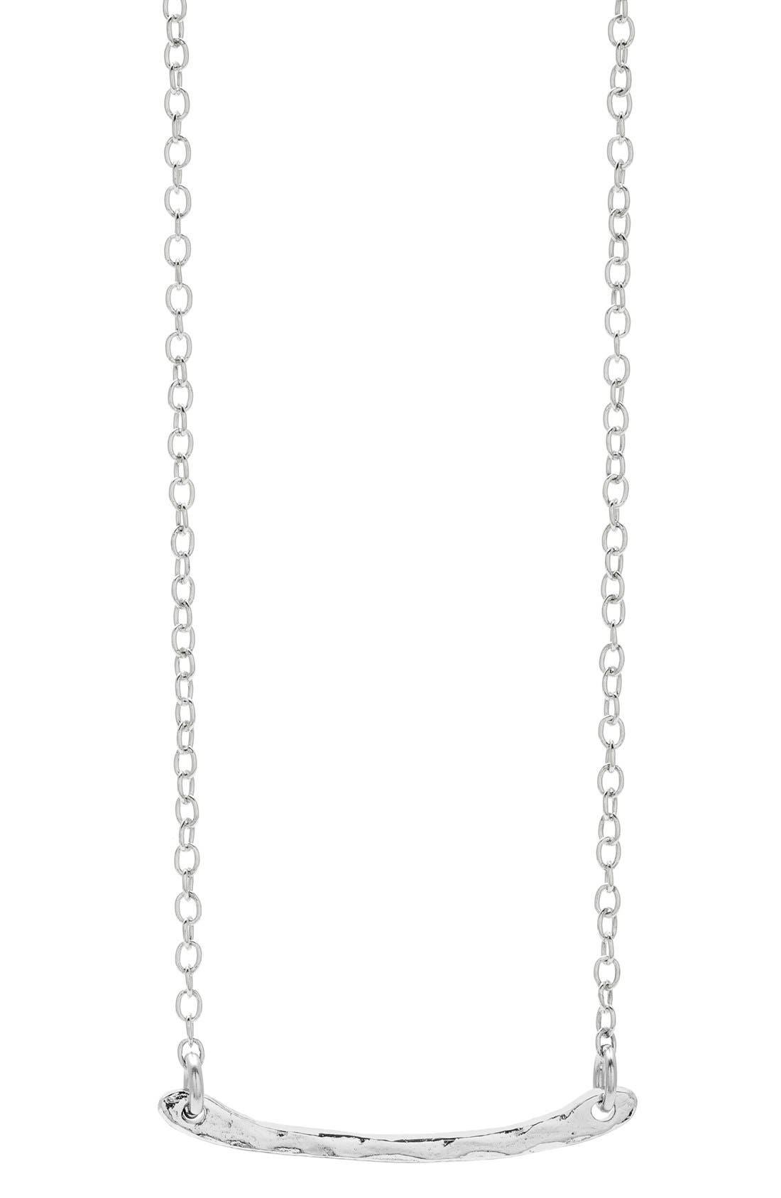 Main Image - gorjana 'Taner' Bar Mini Pendant Necklace