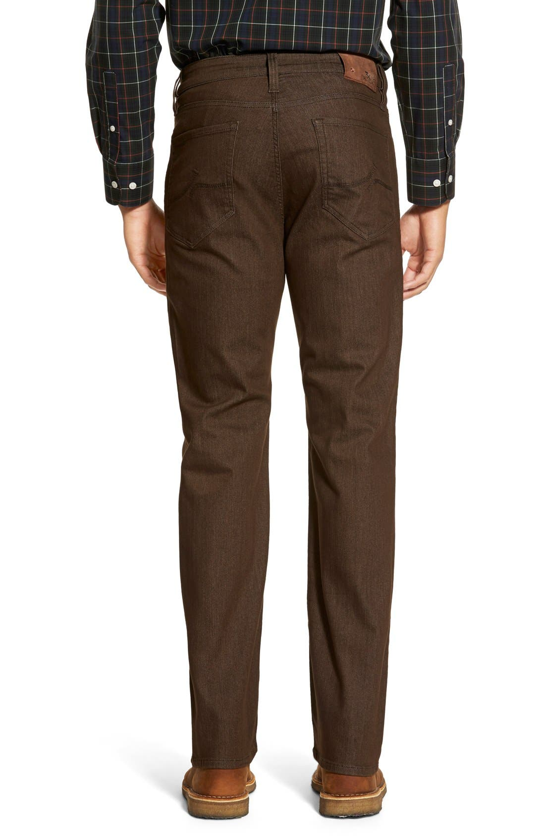 'Charisma' Relaxed Fit Jeans,                             Alternate thumbnail 6, color,                             Brown Comfort