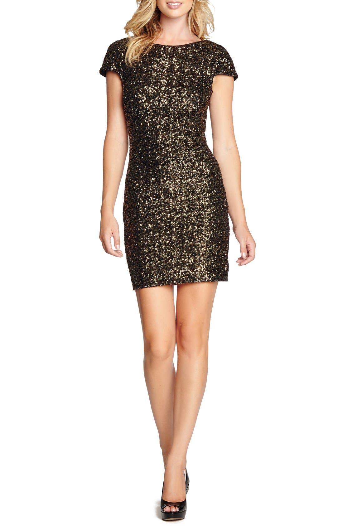 Alternate Image 1 Selected - Dress the Population Tabitha Sequin Minidress