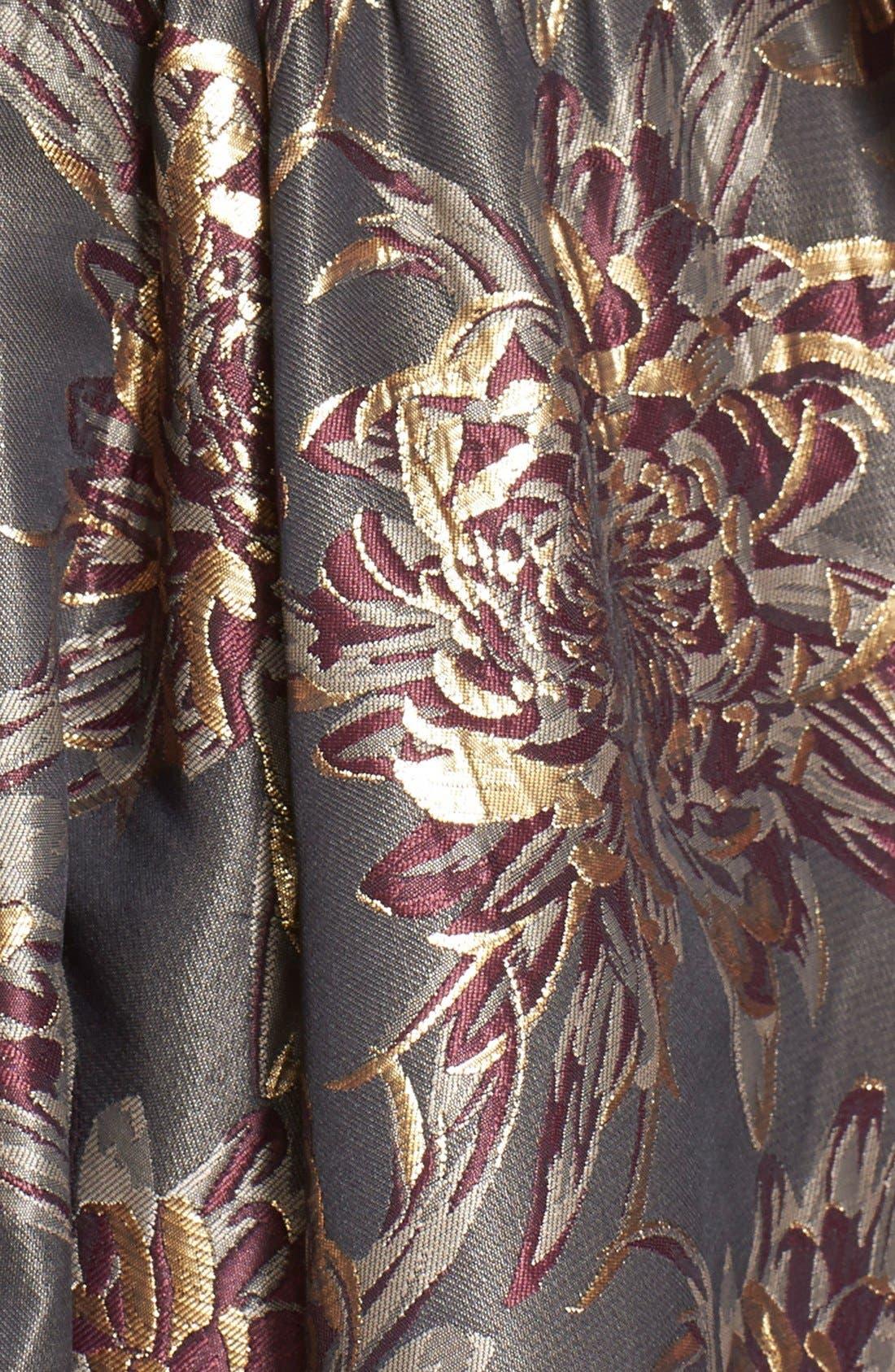 Alternate Image 5  - Ted Baker London 'Laurey' Metallic Floral Jacquard Fit & Flare Dress