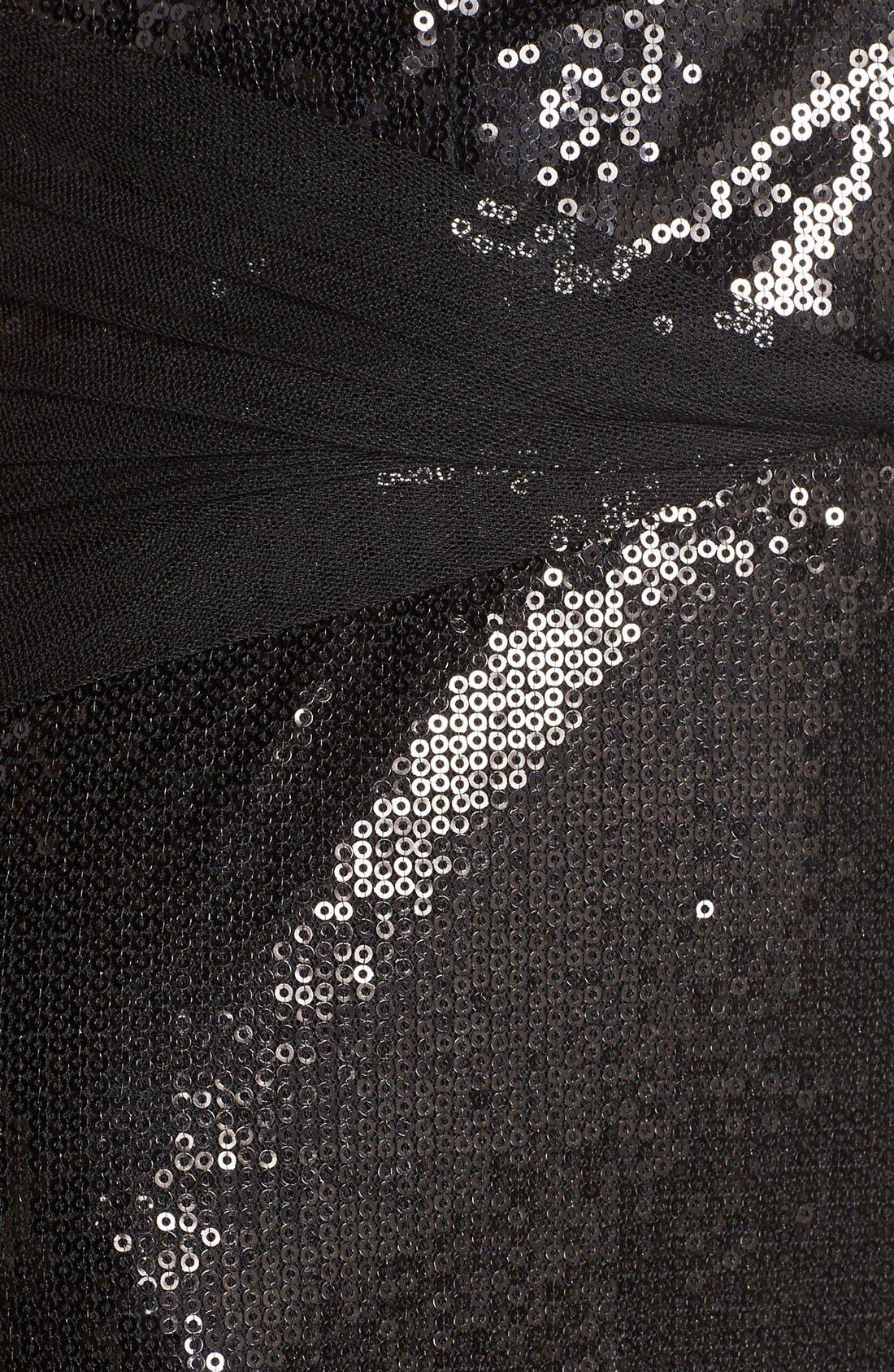 Alternate Image 5  - Vera Wang Mesh Inset Sequin Gown