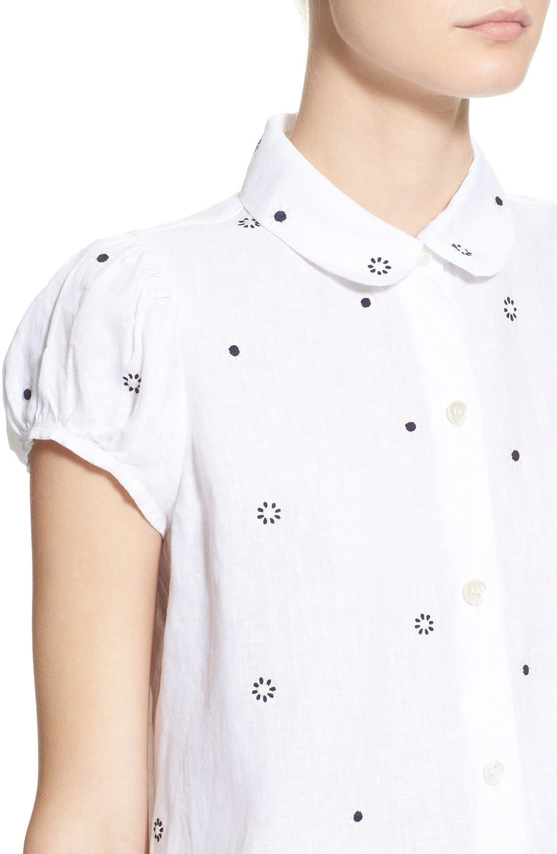 Alternate Image 5  - Jupe by Jackie 'Letaba' Embroidered Linen Blouse