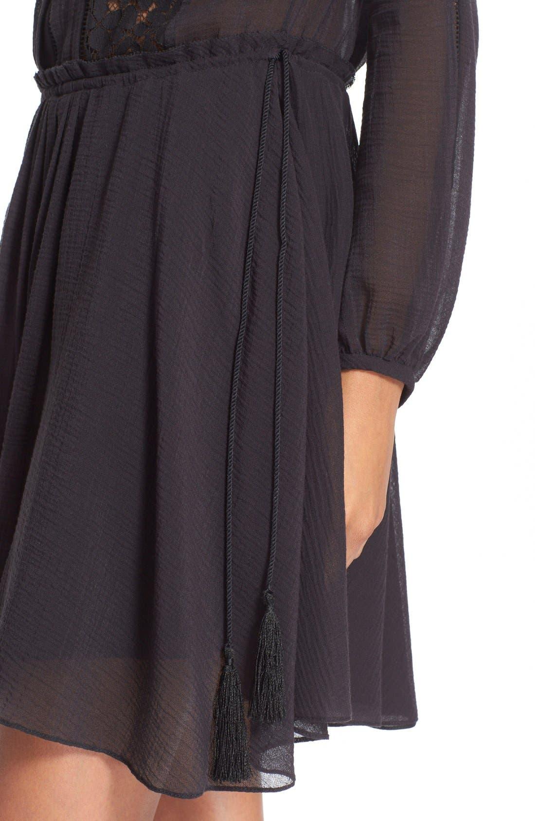 Alternate Image 4  - Derek Lam 10 Crosby Lace Inset Dress