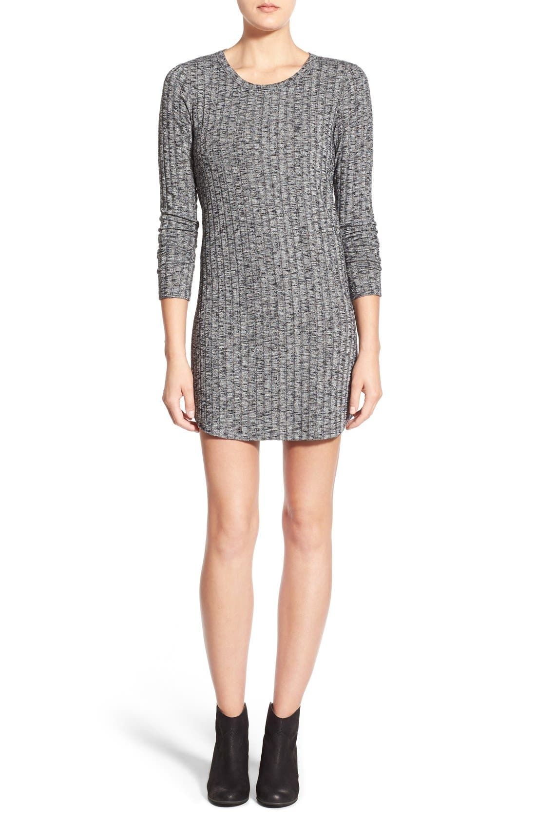 Alternate Image 1 Selected - Everly Ribbed Long Sleeve Sweater Dress