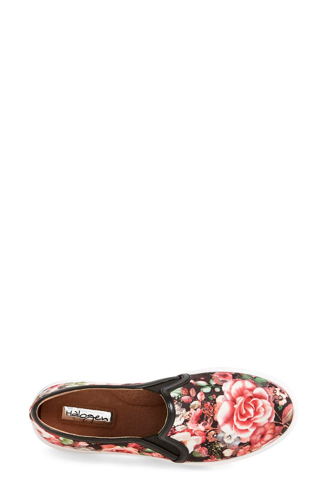 'Turner' Slip-On Sneaker,                             Alternate thumbnail 3, color,                             Rose Floral